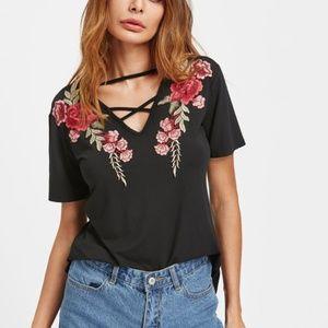 Rose Embroider Shirt